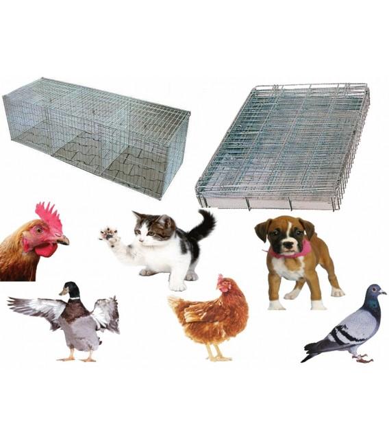 Cage pliable en galva pour domicile expositions concours / ventes / salons et foires