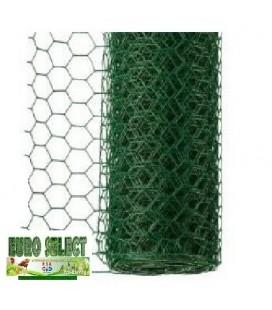 Rouleaux grillage hexagonal plastifié 25 ml- Hauteur 1 m - maille 20 mm - diamètre fil 1.00 mm