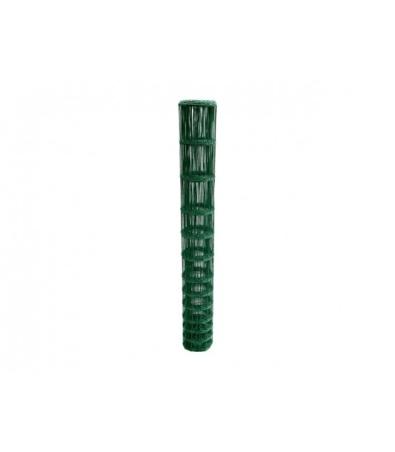 Pack Rouleaux 2.0m de haut 25 ml de Grillage Forestier Soudé Galva PVC BENIFORCE fil 2.1 mm 17 fils