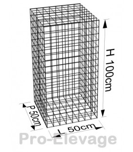 Pack 60 Gabions 1000x500x500 100*50 Fil4.5mm
