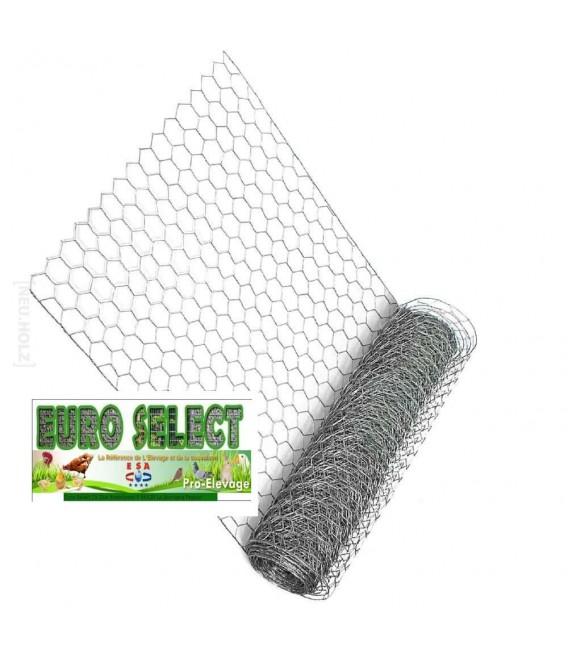 Palette Rouleaux de grillage hexagonal 50 ml : Hauteur 1 m - maille 13mm - diamètre fil de 0.70mm