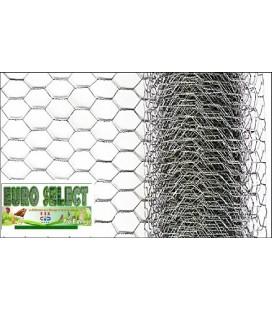 Palette Rouleaux de grillage hexagonal 10 ml/u Hauteur 0,5 m - maille25mm - diamètre fil de 0.80mm