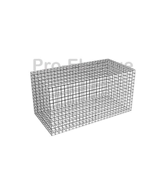 Pack 20 Gabions 1000Lx500LGx1000H 100*100 Fil 4.5mm